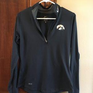 Iowa Hawkeyes Nike Dri Fit Quarter Zip Jacket